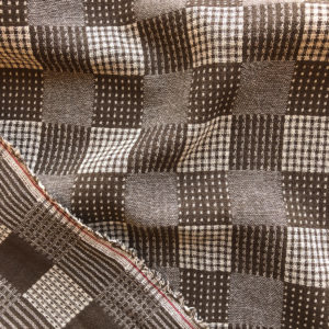 Japanese Yarn Dyed Double Cloth – Picnic Check – Brown